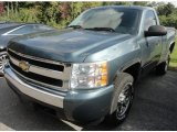 2007 Blue Granite Metallic Chevrolet Silverado 1500 LS Regular Cab 4x4 #86676432