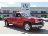 2004 Victory Red Chevrolet Silverado 1500 LS Extended Cab #86675977