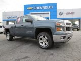 2014 Blue Granite Metallic Chevrolet Silverado 1500 LTZ Z71 Double Cab 4x4 #86676330