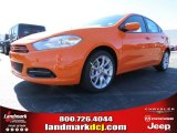 2013 Header Orange Dodge Dart SXT #86725007