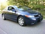 2007 Royal Blue Pearl Honda Civic LX Coupe #8661627