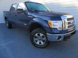 2011 Dark Blue Pearl Metallic Ford F150 Lariat SuperCrew 4x4 #86725102