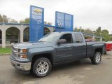 2014 Blue Granite Metallic Chevrolet Silverado 1500 LT Double Cab 4x4 #86724870