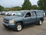 2010 Blue Granite Metallic Chevrolet Silverado 1500 LT Extended Cab 4x4 #86724926