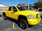 2008 Detonator Yellow Dodge Ram 1500 SLT Quad Cab 4x4 #86725254