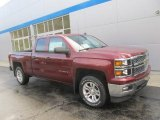 2014 Deep Ruby Metallic Chevrolet Silverado 1500 LT Double Cab 4x4 #86779807