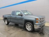 2014 Blue Granite Metallic Chevrolet Silverado 1500 LT Double Cab 4x4 #86779803