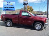 2014 Deep Ruby Metallic Chevrolet Silverado 1500 WT Regular Cab 4x4 #86779915