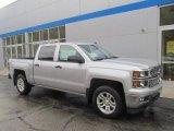 2014 Silver Ice Metallic Chevrolet Silverado 1500 LT Crew Cab 4x4 #86779855