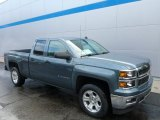 2014 Blue Granite Metallic Chevrolet Silverado 1500 LTZ Z71 Double Cab 4x4 #86779788