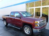 2014 Deep Ruby Metallic Chevrolet Silverado 1500 LT Double Cab 4x4 #86779778