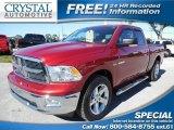 2010 Inferno Red Crystal Pearl Dodge Ram 1500 Big Horn Quad Cab #86780054