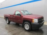 2013 Deep Ruby Metallic Chevrolet Silverado 1500 Work Truck Regular Cab 4x4 #86779767