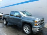2014 Blue Granite Metallic Chevrolet Silverado 1500 LT Double Cab 4x4 #86779818