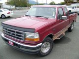 Electric Currant Red Pearl Ford F150 in 1995