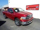 2010 Inferno Red Crystal Pearl Dodge Ram 1500 Big Horn Quad Cab #86812453