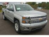 2014 Silver Ice Metallic Chevrolet Silverado 1500 LT Crew Cab #86812310