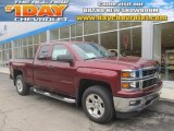2014 Deep Ruby Metallic Chevrolet Silverado 1500 LT Z71 Double Cab 4x4 #86812020
