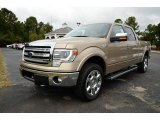 2013 Pale Adobe Metallic Ford F150 Lariat SuperCrew 4x4 #86849052