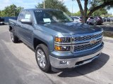 2014 Blue Granite Metallic Chevrolet Silverado 1500 LTZ Double Cab 4x4 #86849281