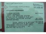 2000 Mercury Sable LS Premium Sedan Window Sticker