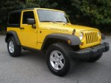 2011 Detonator Yellow Jeep Wrangler Rubicon 4x4 #86892634