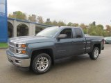 2014 Blue Granite Metallic Chevrolet Silverado 1500 LT Double Cab 4x4 #86892163