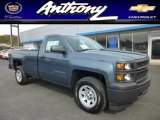 2014 Blue Granite Metallic Chevrolet Silverado 1500 WT Regular Cab 4x4 #86892692