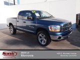 2006 Atlantic Blue Pearl Dodge Ram 1500 Laramie Quad Cab 4x4 #86892410