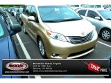 2011 Sandy Beach Metallic Toyota Sienna XLE AWD #86892023