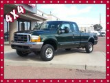 2000 Woodland Green Metallic Ford F250 Super Duty XLT Extended Cab 4x4 #86892371
