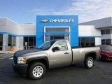 2012 Graystone Metallic Chevrolet Silverado 1500 Work Truck Regular Cab #86937516