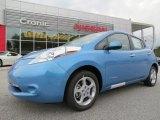 2013 Blue Ocean Nissan LEAF SV #86937656