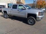 2014 Silver Ice Metallic Chevrolet Silverado 1500 LT Z71 Crew Cab 4x4 #86937402