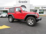 2012 Flame Red Jeep Wrangler Rubicon 4X4 #86937555