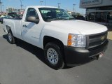 2008 Summit White Chevrolet Silverado 1500 Work Truck Regular Cab 4x4 #86980919