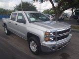 2014 Silver Ice Metallic Chevrolet Silverado 1500 LT Z71 Crew Cab 4x4 #87058331