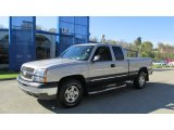 2004 Silver Birch Metallic Chevrolet Silverado 1500 LS Extended Cab 4x4 #87056972