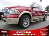 2014 Deep Cherry Red Crystal Pearl Ram 1500 Laramie Longhorn Crew Cab #87057183