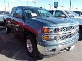 2014 Blue Granite Metallic Chevrolet Silverado 1500 LT Double Cab 4x4 #87057730