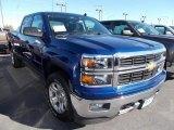 2014 Blue Topaz Metallic Chevrolet Silverado 1500 LT Z71 Crew Cab 4x4 #87057725