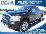 2008 Brilliant Black Crystal Pearl Dodge Ram 1500 Laramie Quad Cab 4x4 #87057938