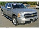 2011 Sheer Silver Metallic Chevrolet Silverado 1500 LTZ Crew Cab 4x4 #87057923