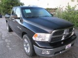 2010 Brilliant Black Crystal Pearl Dodge Ram 1500 Lone Star Quad Cab #87056897