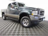 2004 Dark Green Satin Metallic Ford F250 Super Duty Lariat SuperCab 4x4 #87057655