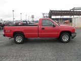 2005 Victory Red Chevrolet Silverado 1500 Regular Cab 4x4 #87225316