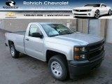 2014 Silver Ice Metallic Chevrolet Silverado 1500 WT Regular Cab 4x4 #87225341