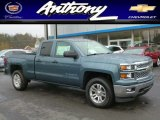2014 Blue Granite Metallic Chevrolet Silverado 1500 LT Double Cab 4x4 #87225333