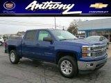 2014 Blue Topaz Metallic Chevrolet Silverado 1500 LT Crew Cab 4x4 #87225332