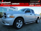 2012 Bright Silver Metallic Dodge Ram 1500 Express Quad Cab 4x4 #87274589